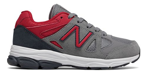 Kids New Balance 888v1 Running Shoe - Grey/Red/Black 5.5Y