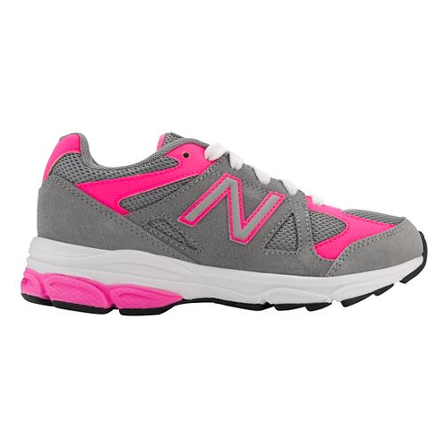 Kids New Balance 888v1 Running Shoe - Grey/Pink 2.5Y