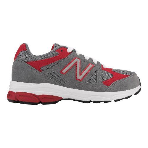 Kids New Balance 888v1 Running Shoe - Grey/Red 2.5Y