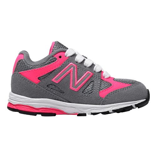 Kids New Balance 888v1 Running Shoe - Grey/Pink 5C