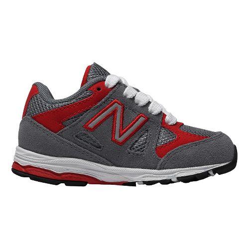 Kids New Balance 888v1 Running Shoe - Grey/Red 5C