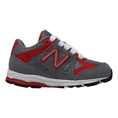 Kids New Balance 888v1 Running Shoe - Grey/Red 8.5C