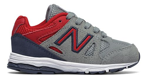 New Balance 888v1 Running Shoe - Grey/Red/Black 6C