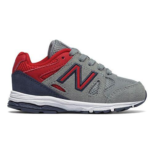 New Balance 888v1 Running Shoe - Grey/Red/Black 10C