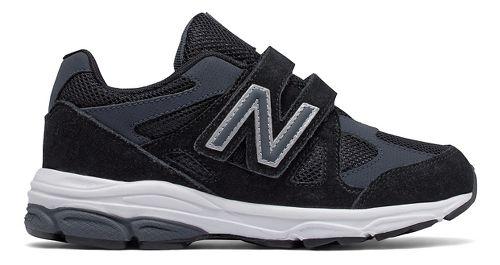 New Balance 888v1 Velcro Running Shoe - Black/Grey 2Y