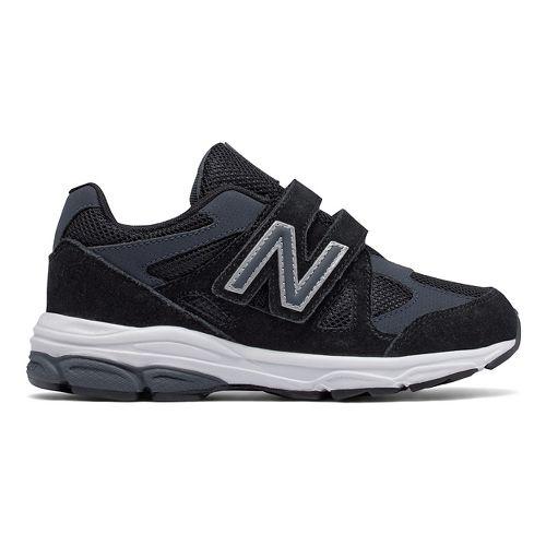 New Balance 888v1 Velcro Running Shoe - Black/Grey 12C