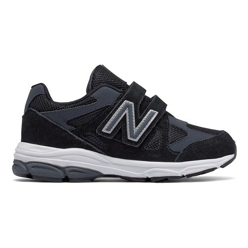 New Balance 888v1 Velcro Running Shoe - Black/Grey 2.5Y