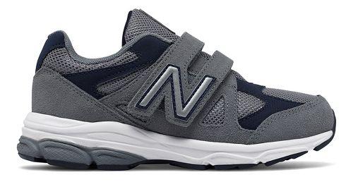 New Balance 888v1 Velcro Running Shoe - Grey/Navy 2.5Y