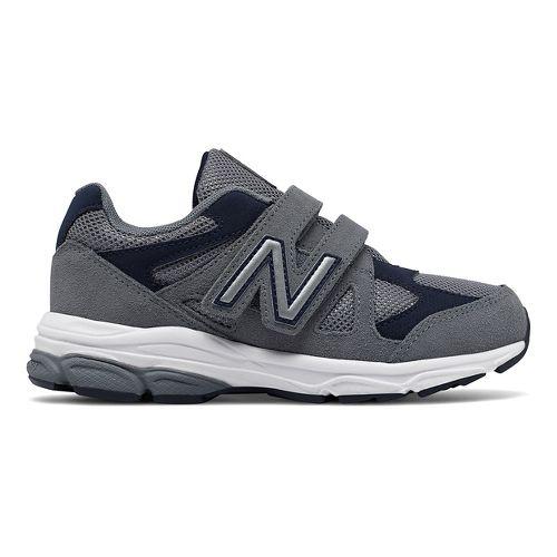 New Balance 888v1 Velcro Running Shoe - Grey/Navy 3Y