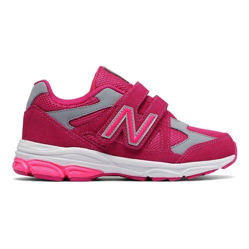 New Balance 888v1 Velcro Running Shoe - Pink/Grey 2.5Y