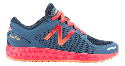Kids New Balance Fresh Foam Zante v2 Running Shoe - Grey/Red 7Y