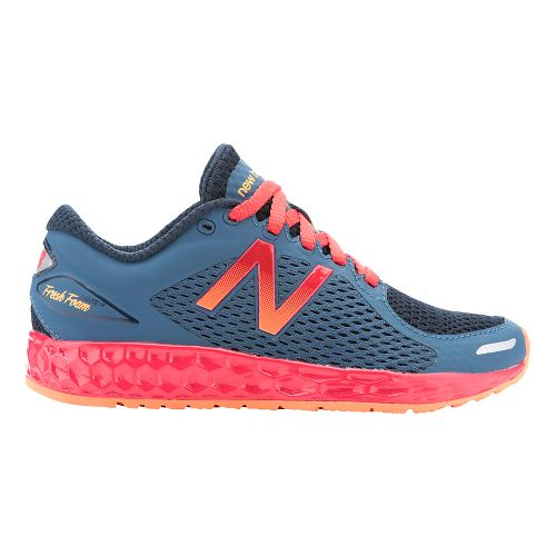 Kids New Balance Fresh Foam Zante v2 Running Shoe - Grey/Red 5.5Y