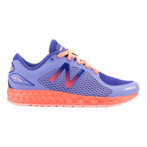 Kids New Balance Fresh Foam Zante v2 Running Shoe - Purple/Orange 6.5Y