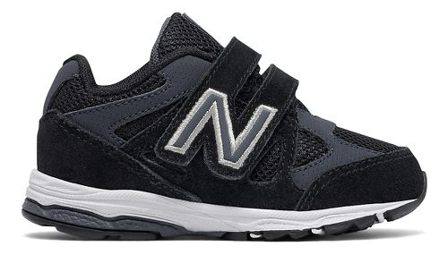 New Balance 888v1 Velcro Running Shoe - Black/Grey 10C