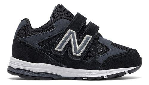 New Balance 888v1 Velcro Running Shoe - Black/Grey 6.5C