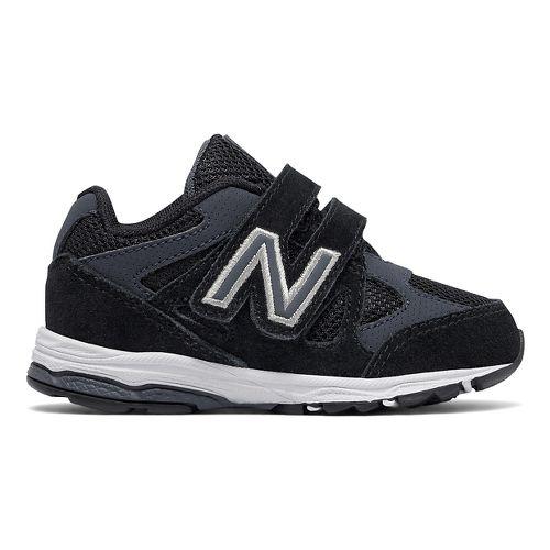 New Balance 888v1 Velcro Running Shoe - Black/Grey 8C