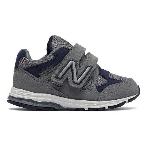 New Balance 888v1 Velcro Running Shoe - Grey/Navy 9.5C