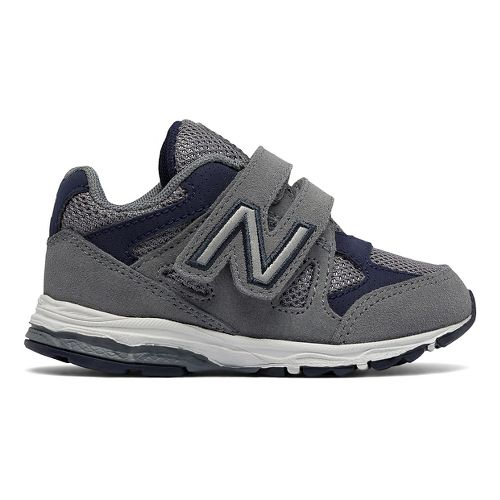 New Balance 888v1 Velcro Running Shoe - Grey/Navy 9.5C
