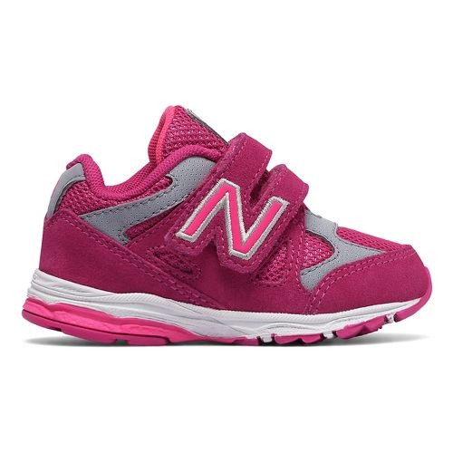 New Balance 888v1 Velcro Running Shoe - Pink/Grey 4C