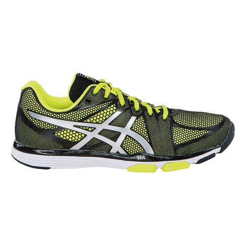 Mens ASICS GEL-Exert TR Cross Training Shoe - Black/Flash Yellow 11.5