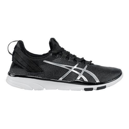 Womens ASICS GEL-Fit Sana 2 Cross Training Shoe - Black/Silver 9.5