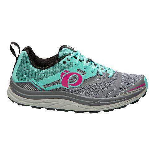 Womens Pearl Izumi Em Trail N 3 Trail Running Shoe - Grey/Aqua 7.5