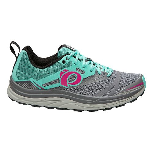 Womens Pearl Izumi Em Trail N 3 Trail Running Shoe - Grey/Aqua 8.5