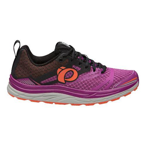 Womens Pearl Izumi Em Trail N 3 Trail Running Shoe - Purple/Clementine 7.5