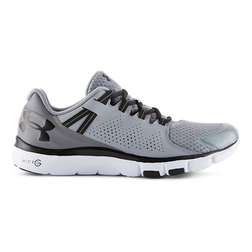 Mens Under Armour Micro G Limitless TR Cross Training Shoe - Steel/Black 10.5