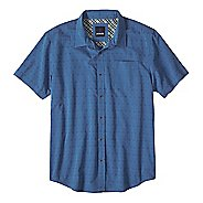 Mens prAna Voyage Short Sleeve Non-Technical Tops
