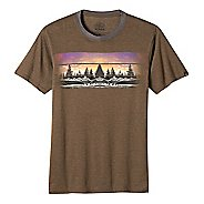Mens prAna Vibes Ringer Short Sleeve Non-Technical Tops
