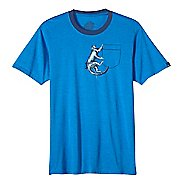 Mens prAna Silly Monkey Ringer Short Sleeve Non-Technical Tops