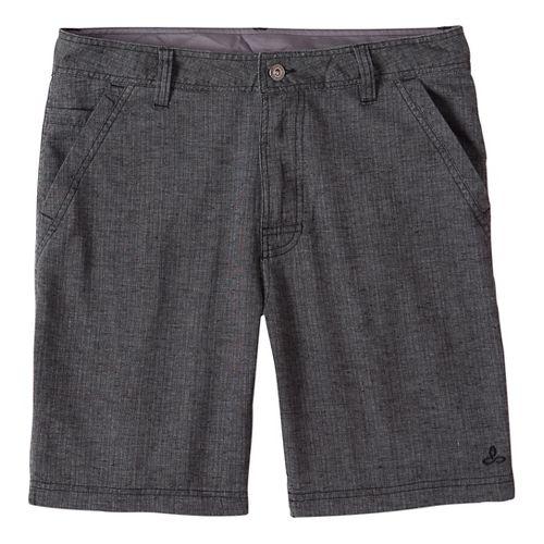 Mens prAna Furrow Short 8 Inseam Unlined Shorts - Black Herringbone 34