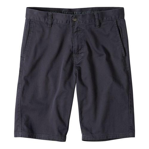 Mens prAna Table Rock Chino Unlined Shorts - Coal 28