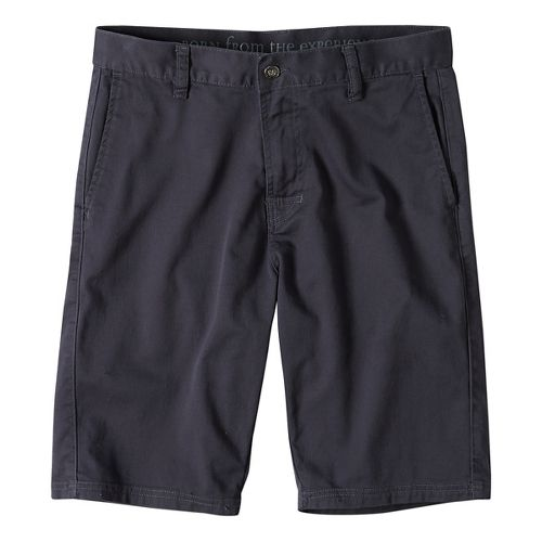 Mens prAna Table Rock Chino Unlined Shorts - Coal 32