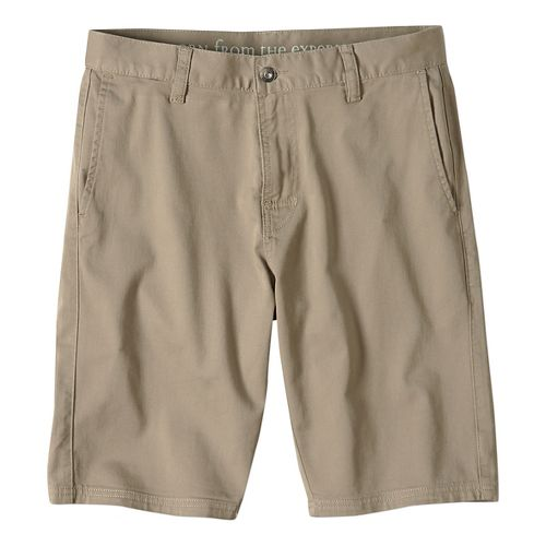 Mens prAna Table Rock Chino Unlined Shorts - Dark Khaki 38