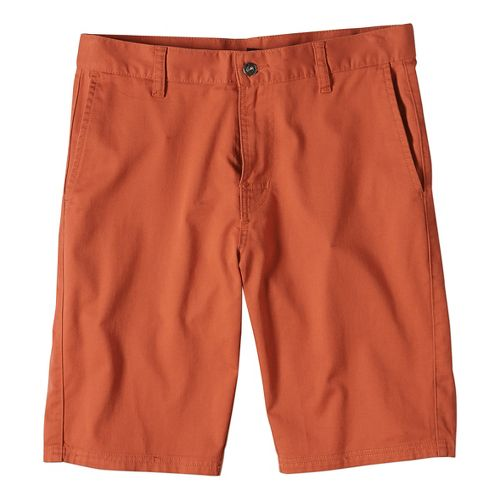 Mens prAna Table Rock Chino Unlined Shorts - Red Clay 34
