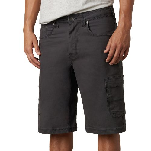 Mens prAna Murray Relaxed Fit Unlined Shorts - Charcoal 36