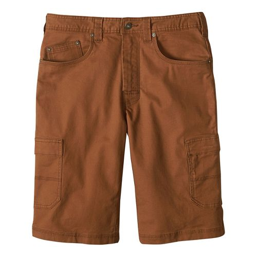Mens prAna Murray Relaxed Fit Unlined Shorts - Sepia 28