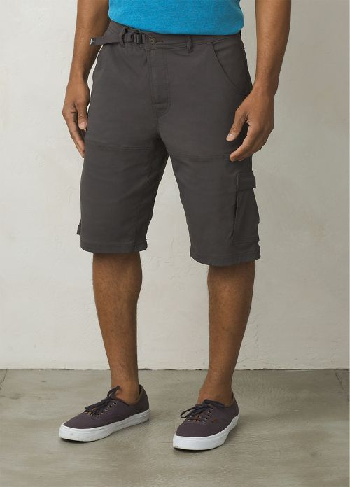 Mens prAna Stretch Zion Unlined Shorts - Charcoal 35