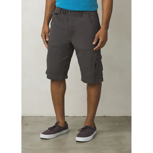 Mens prAna Stretch Zion Unlined Shorts - Charcoal 28