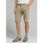 Mens prAna Stretch Zion Unlined Shorts - Dark Khaki 30