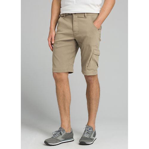 Mens prAna Stretch Zion Unlined Shorts - Dark Khaki 36