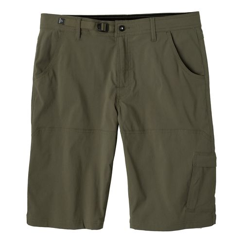 Mens prAna Stretch Zion Unlined Shorts - Cargo Green 28