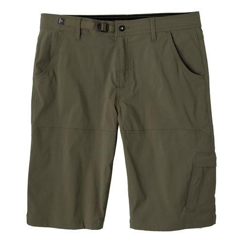 Mens prAna Stretch Zion Unlined Shorts - Cargo Green 35