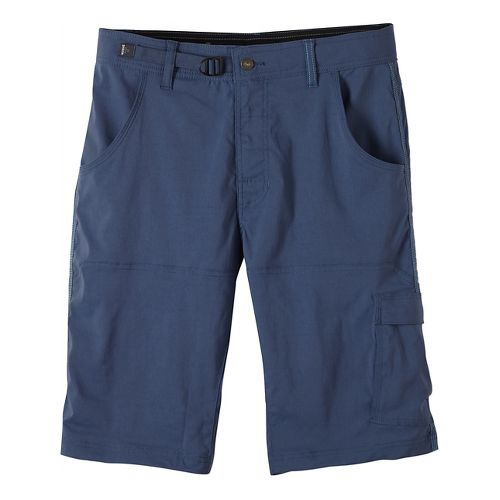 Mens prAna Stretch Zion Unlined Shorts - Blue Ridge 34