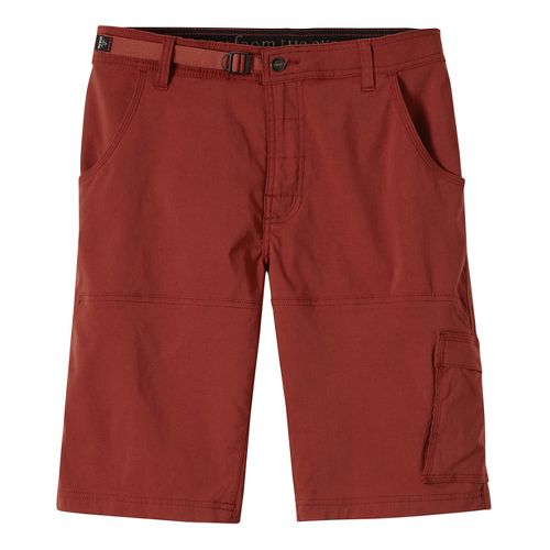 Mens prAna Stretch Zion Unlined Shorts - Brick 33