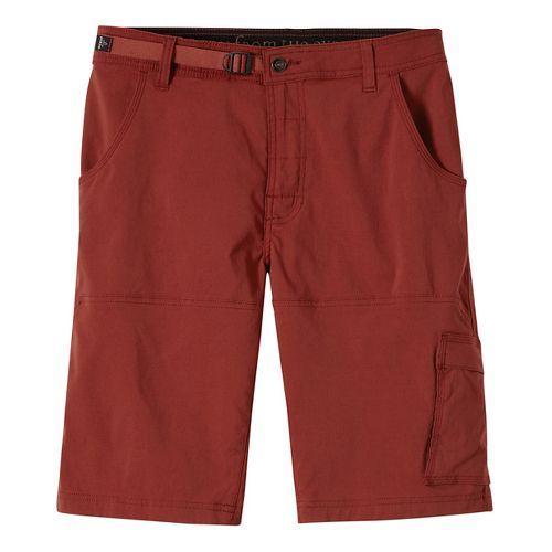 Mens prAna Stretch Zion Unlined Shorts - Brick 34