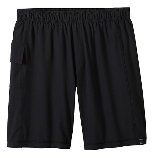 Mens prAna Flex Lined Shorts - Black XL