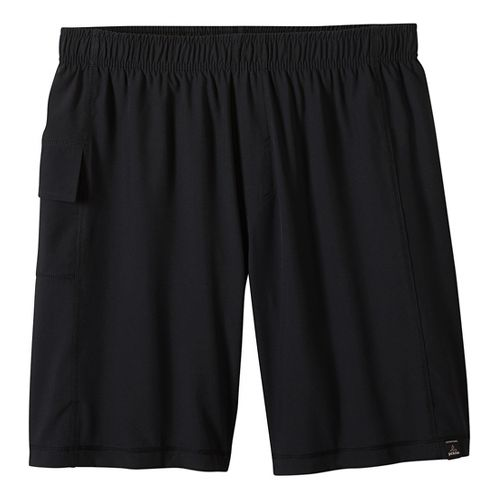 Mens prAna Flex Lined Shorts - Black/Black L